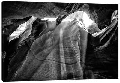 Black Arizona Series - Antelope Canyon Natural Wonder XIII Canvas Art Print