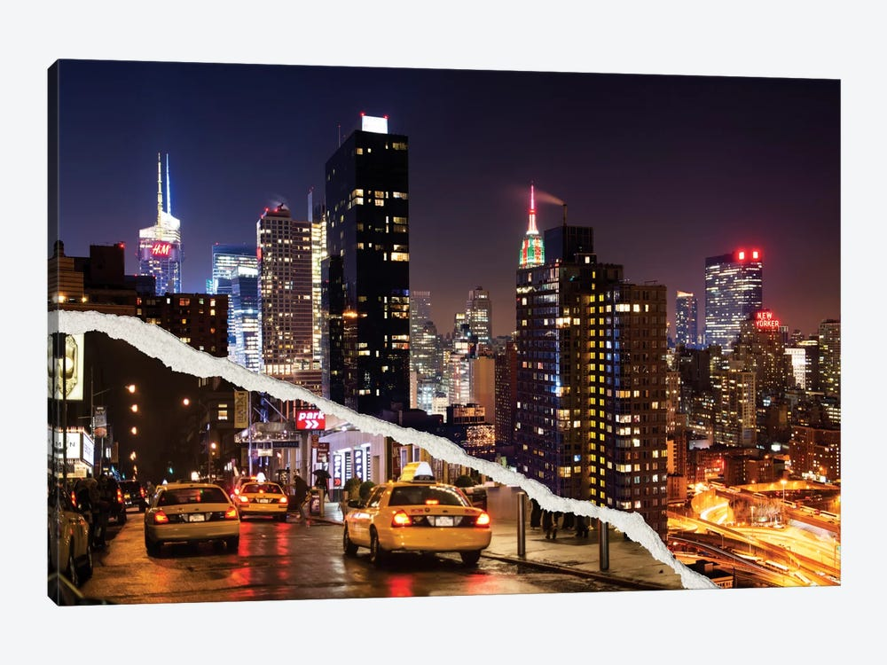 Life Taxis in New York by Philippe Hugonnard 1-piece Canvas Print