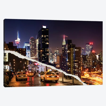 Life Taxis in New York Canvas Print #PHD16} by Philippe Hugonnard Canvas Artwork
