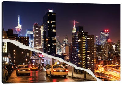 Life Taxis in New York Canvas Art Print
