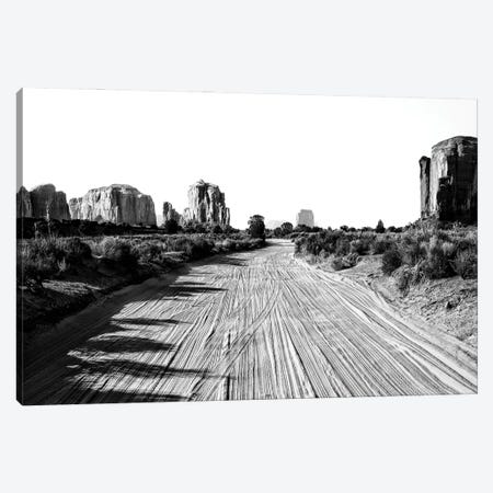 Black Arizona Series - Follow The Road Canvas Print #PHD1700} by Philippe Hugonnard Canvas Wall Art