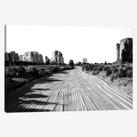 Black Arizona Series - Follow The Road Canvas Print #PHD1700} by Philippe Hugonnard Canvas Wall Art