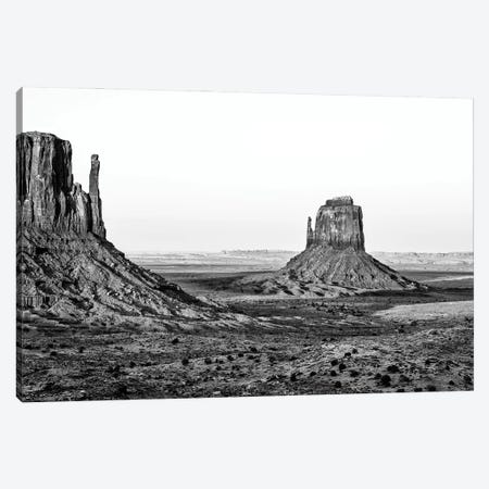 Black Arizona Series - Monument Valley Navajo Tribal Park III Canvas Print #PHD1704} by Philippe Hugonnard Canvas Art Print