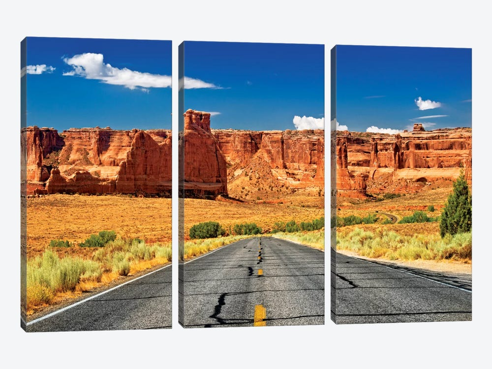 Scenic Drive by Philippe Hugonnard 3-piece Canvas Wall Art