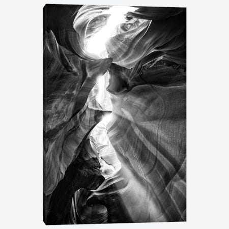 Black Arizona Series - Antelope Canyon Natural Wonder XV Canvas Print #PHD1712} by Philippe Hugonnard Canvas Art Print