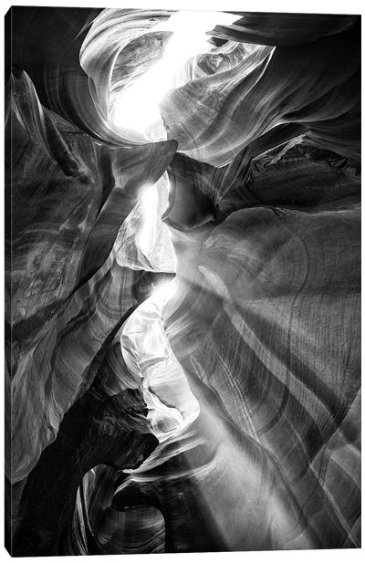 Black Arizona Series - Antelope Canyon Natural Wonder XV Canvas Art Print