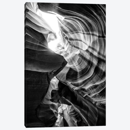 Black Arizona Series - The Antelope Canyon Natural Wonder XIII Canvas Print #PHD1717} by Philippe Hugonnard Canvas Wall Art
