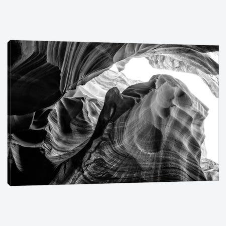 Black Arizona Series - The Antelope Canyon Natural Wonder XIV Canvas Print #PHD1718} by Philippe Hugonnard Art Print