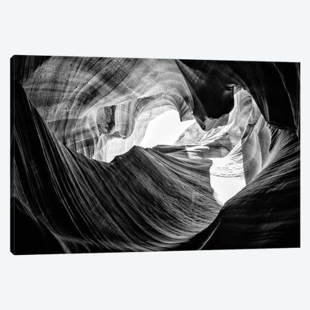 Black Arizona Series - The Antelope Canyon Natural Wonder XV Canvas Print #PHD1719} by Philippe Hugonnard Art Print