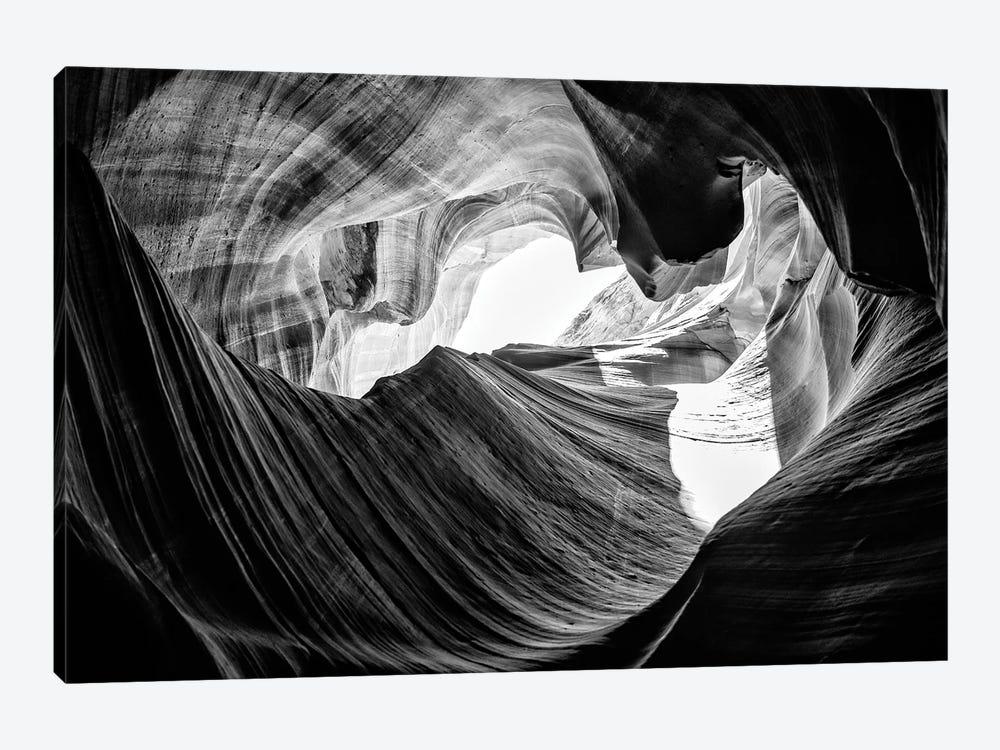 Black Arizona Series - The Antelope Canyon Natural Wonder XV by Philippe Hugonnard 1-piece Art Print