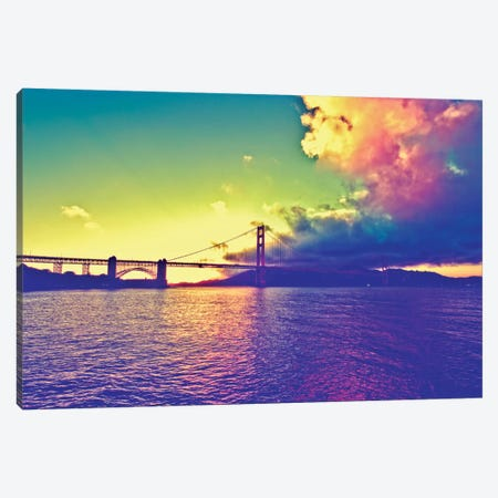 Sunset on the Bridge Canvas Print #PHD171} by Philippe Hugonnard Canvas Art