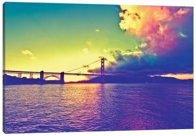 Sunset on the Bridge Canvas Print #PHD171