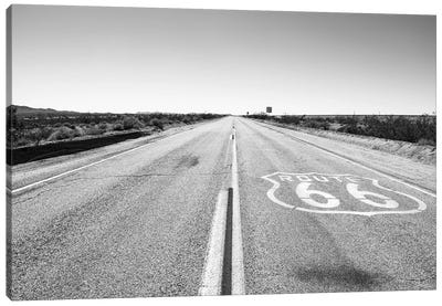 Black Arizona Series - Amazing Route 66 Canvas Art Print