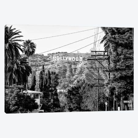 Black California Series - Hollywood Sign Canvas Print #PHD1723} by Philippe Hugonnard Canvas Artwork