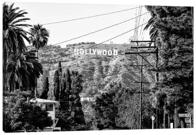 Black California Series - Hollywood Sign Canvas Art Print