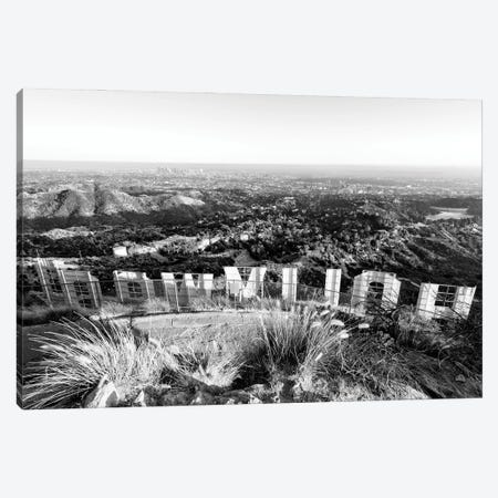 Black California Series - Back Hollywood Sign Canvas Print #PHD1724} by Philippe Hugonnard Canvas Art Print