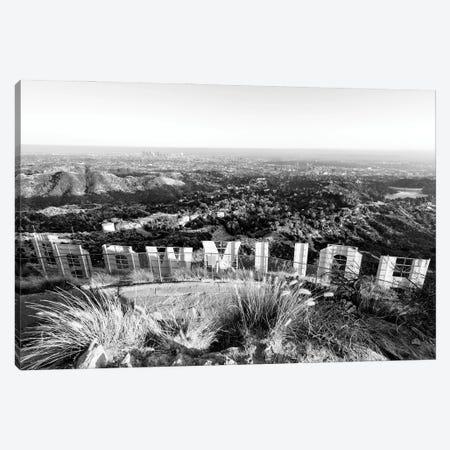 Black California Series - Back Hollywood Sign Canvas Print #PHD1724} by Philippe Hugonnard Canvas Art Print