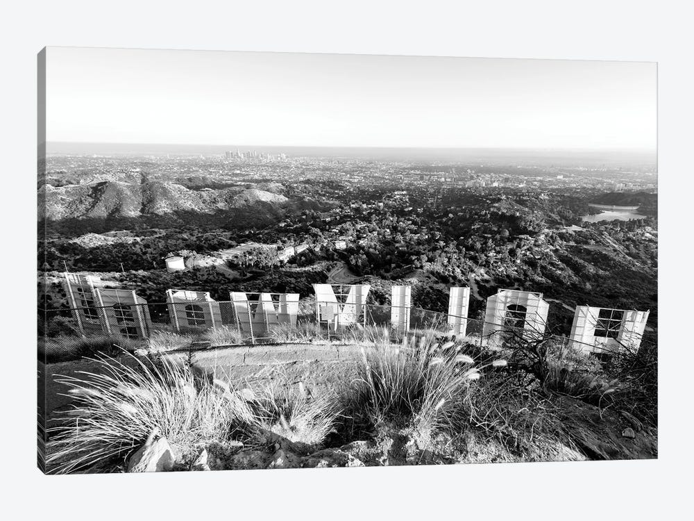 Black California Series - Back Hollywood Sign by Philippe Hugonnard 1-piece Canvas Art Print