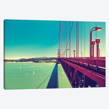 The Golden Gate Bridge Canvas Print #PHD172} by Philippe Hugonnard Canvas Artwork