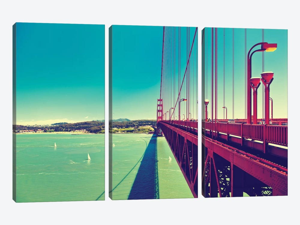 The Golden Gate Bridge by Philippe Hugonnard 3-piece Canvas Artwork