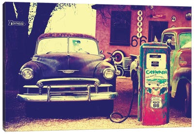 U.S. Route 66 Fill-Up Station Canvas Art Print