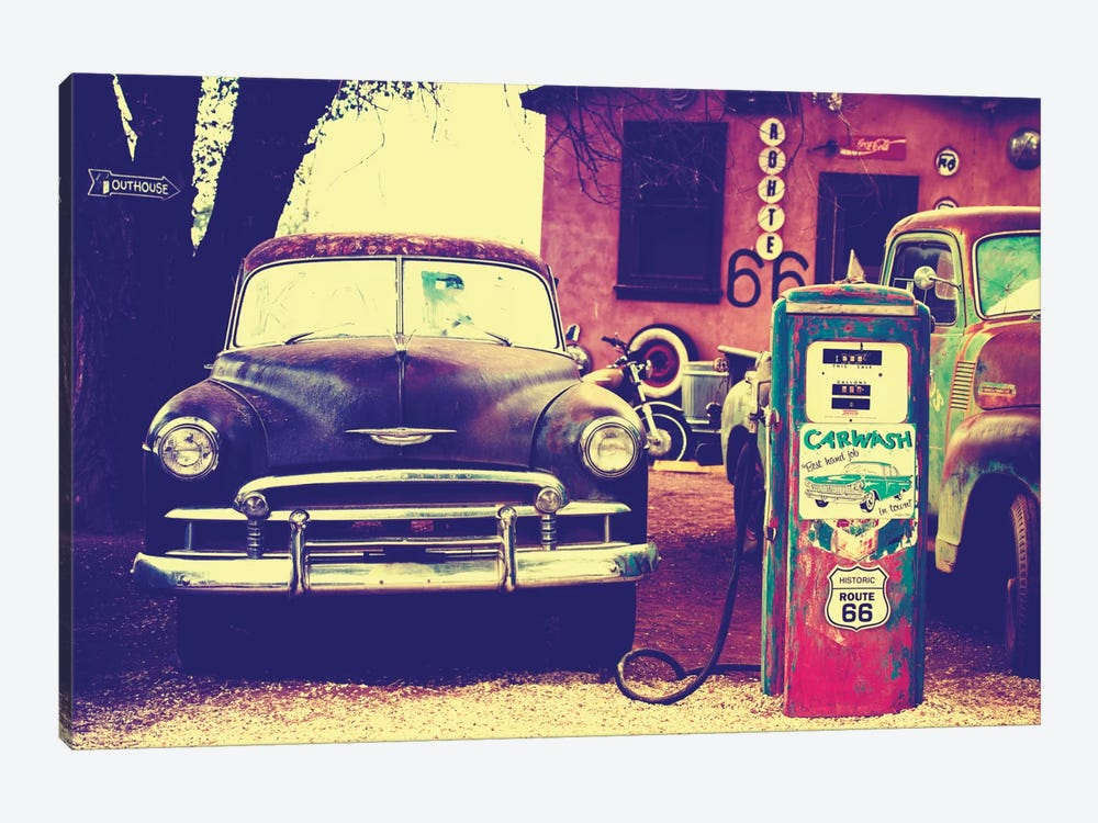 U.S. Route 66 Fill-Up Station by Philippe Hugonnard 1-piece Canvas Print
