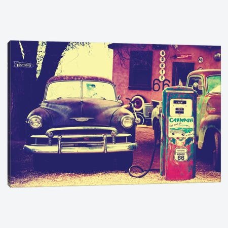 U.S. Route 66 Fill-Up Station 3-Piece Canvas #PHD173} by Philippe Hugonnard Canvas Art