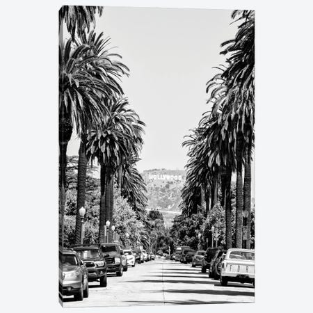 Black California Series - Downtown Los Angeles Canvas Print #PHD1742} by Philippe Hugonnard Canvas Wall Art