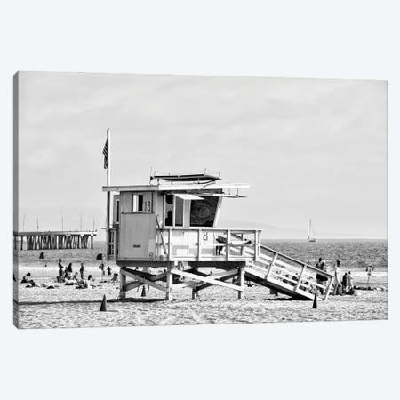 Black California Series - Lifeguard Tower 18 Canvas Print #PHD1746} by Philippe Hugonnard Canvas Art Print