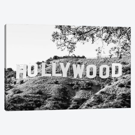 Black California Series - Los Angeles Hollywood Sign Canvas Print #PHD1749} by Philippe Hugonnard Canvas Art