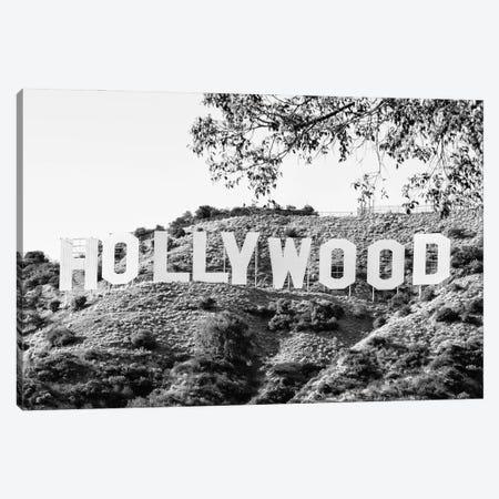 Black California Series - Los Angeles Hollywood Sign Canvas Print #PHD1749} by Philippe Hugonnard Canvas Art