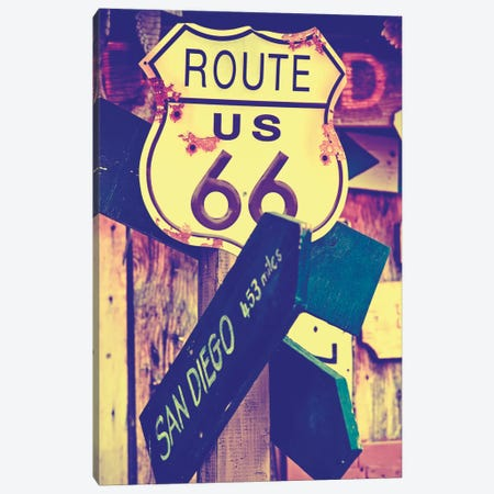 U.S. Route 66 Sign Canvas Print #PHD174} by Philippe Hugonnard Canvas Art Print