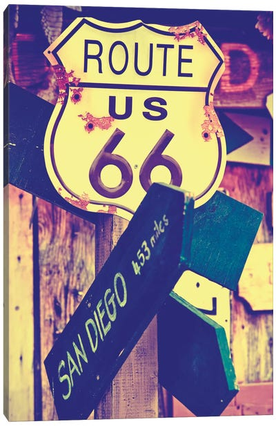 U.S. Route 66 Sign Canvas Art Print
