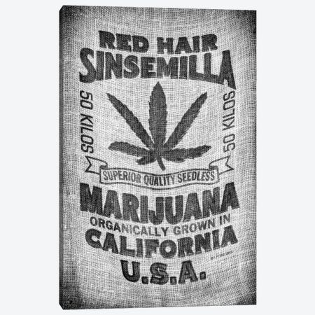 Black California Series - Marijuana California Canvas Print #PHD1751} by Philippe Hugonnard Art Print