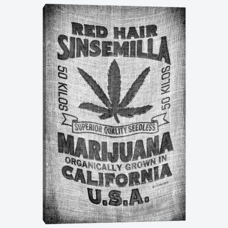 Black California Series - Marijuana California Canvas Print #PHD1751} by Philippe Hugonnard Art Print