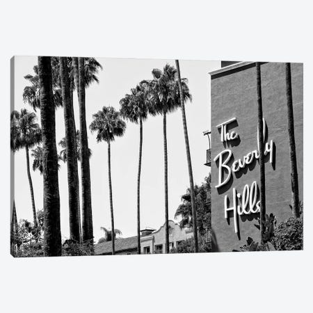 Black California Series - The Beverly Hills Hotel Canvas Print #PHD1753} by Philippe Hugonnard Canvas Art Print