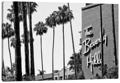 Black California Series - The Beverly Hills Hotel Canvas Art Print