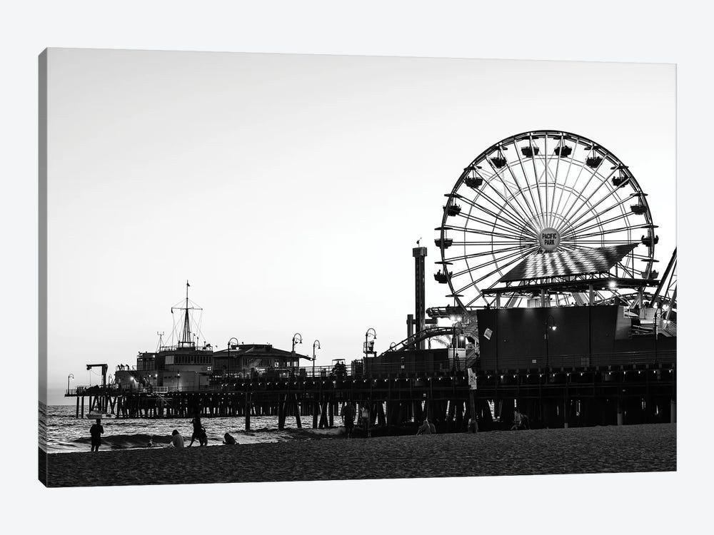 Black California Series - Santa Monica Pacific Park by Philippe Hugonnard 1-piece Art Print