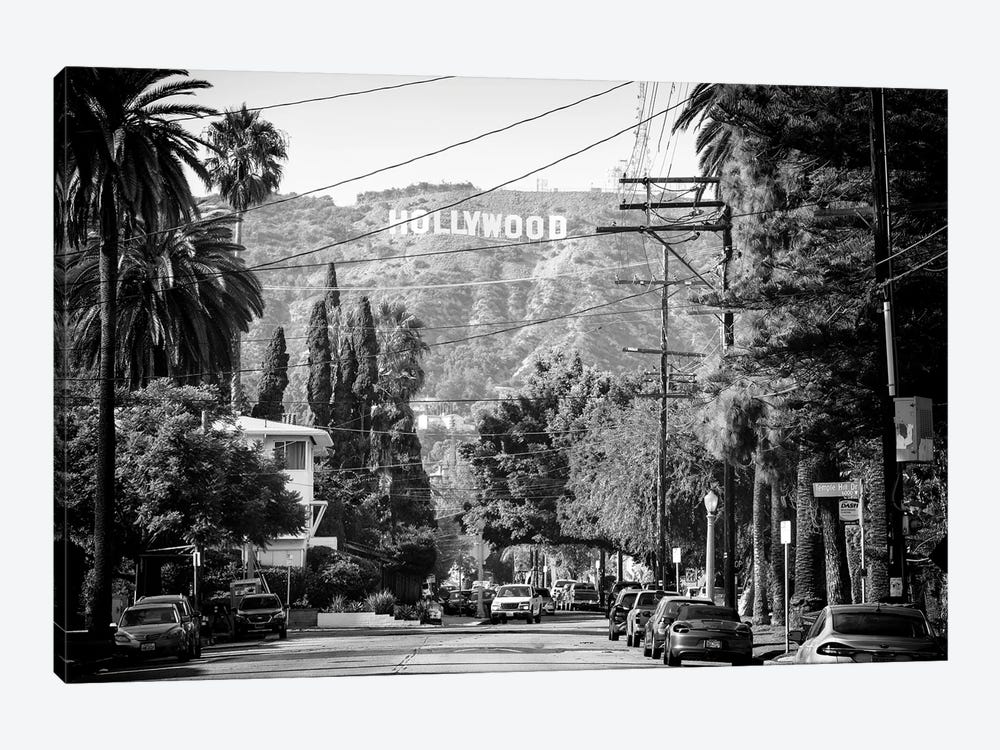 Black California Series - Los Angeles Downtown I by Philippe Hugonnard 1-piece Canvas Artwork