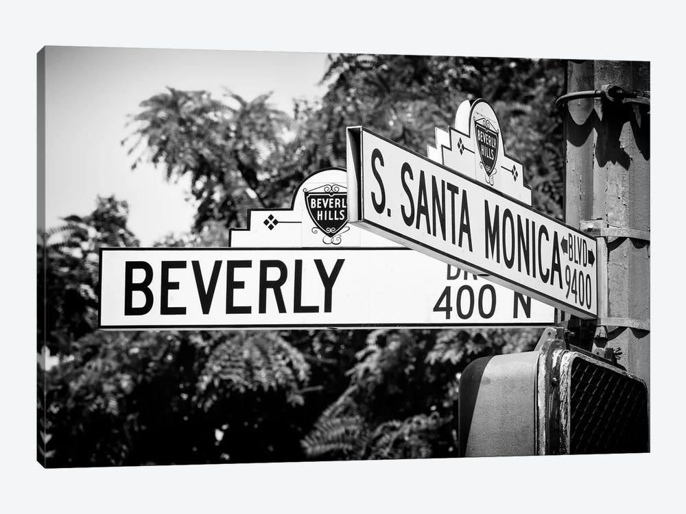 Black California Series - L.A Street Signs by Philippe Hugonnard 1-piece Canvas Art Print