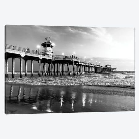 Black California Series - Huntington Beach Pier II Canvas Print #PHD1769} by Philippe Hugonnard Canvas Art
