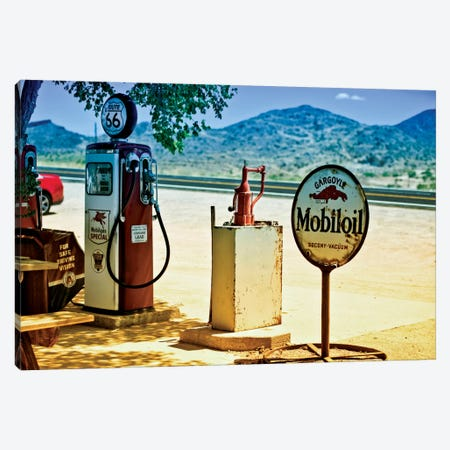 View From A Gas Station Along U.S. Route 66 Canvas Print #PHD176} by Philippe Hugonnard Canvas Art Print