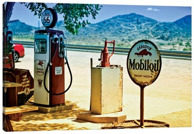 View From A Gas Station Along U.S. Route 66 Canvas Art Print