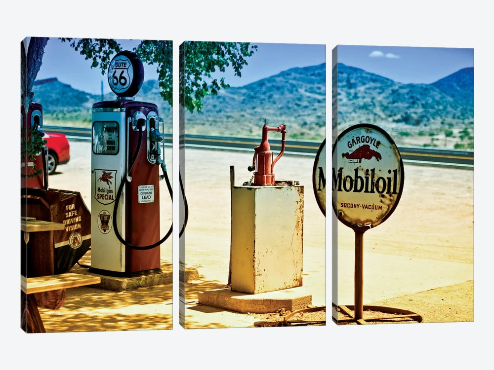 View From A Gas Station Along U.S. Route 66 by Philippe Hugonnard 3-piece Canvas Wall Art