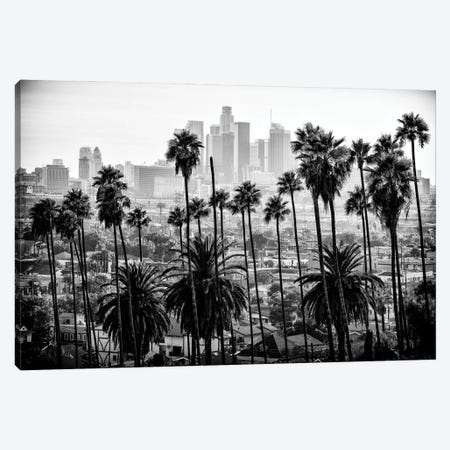 Black California Series - Los Angeles Skyline Canvas Print #PHD1772} by Philippe Hugonnard Canvas Print