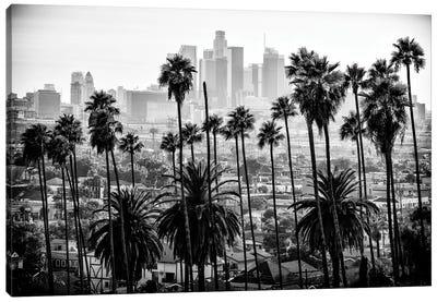 Black California Series - Los Angeles Skyline Canvas Art Print