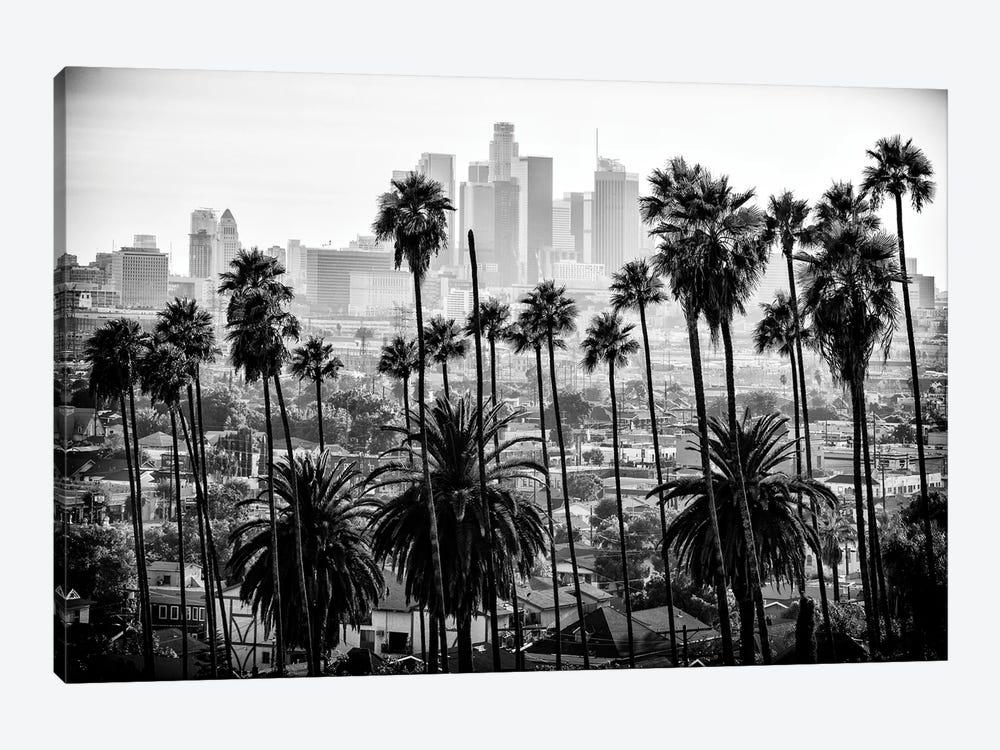 Black California Series - Los Angeles Skyline by Philippe Hugonnard 1-piece Canvas Artwork