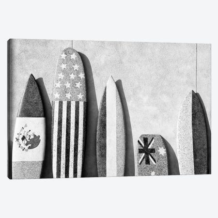 Black California Series - Surf Boards Canvas Print #PHD1781} by Philippe Hugonnard Canvas Artwork