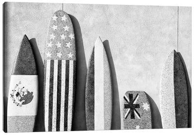 Black California Series - Surf Boards Canvas Art Print