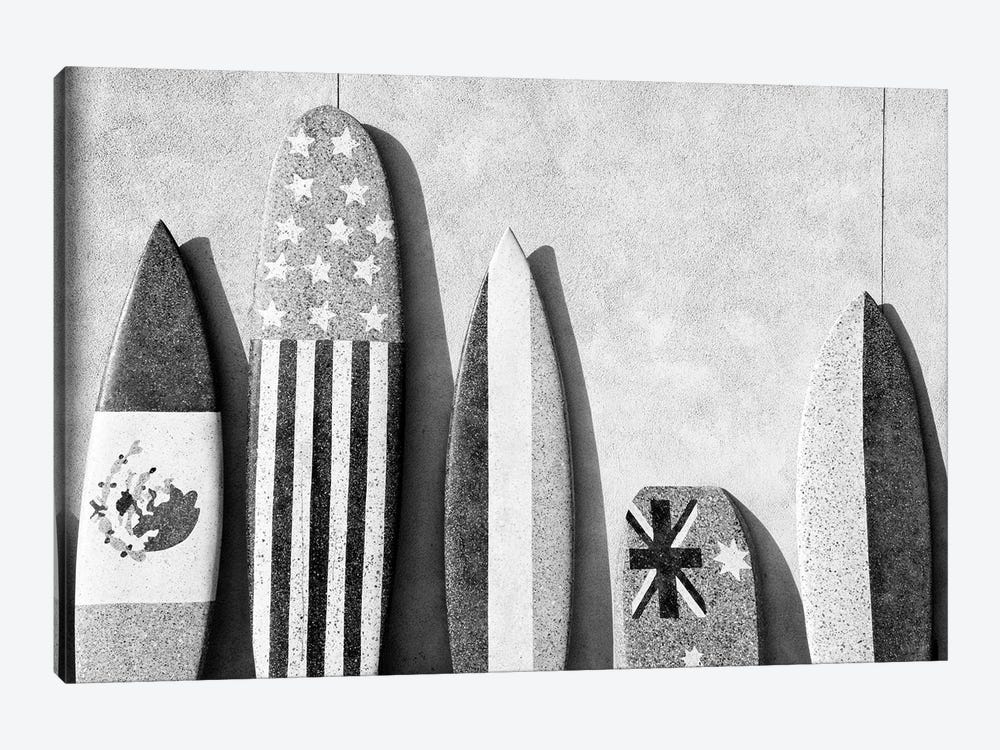 Black California Series - Surf Boards by Philippe Hugonnard 1-piece Canvas Wall Art